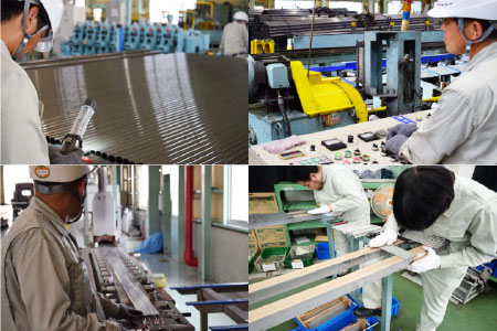 素材や機械など、学んだことを100%発揮し成長出来る環境です